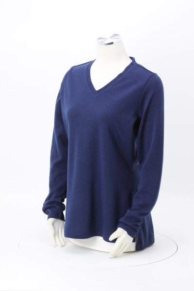 Bromley Wool Blend Knit V-Neck Knit Top - Ladies' 360 View