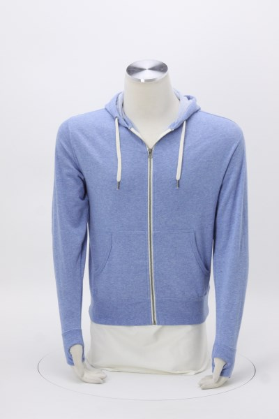 Independent Trading Co. French Terry Heathered Full-Zip Hooded Sweatshirt - Embroidered 360 View