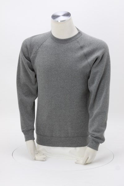 Independent Trading Co. Raglan Crewneck Sweatshirt - Embroidered 360 View