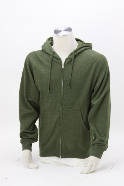 Independent Trading Co. Midweight Full-Zip Hoodie - Embroidered 360 View