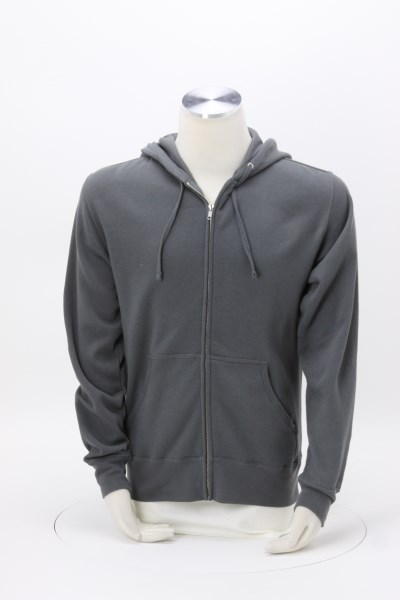 Independent Trading Co. 6.5 oz. Full-Zip Hooded Sweatshirt - Embroidered 360 View