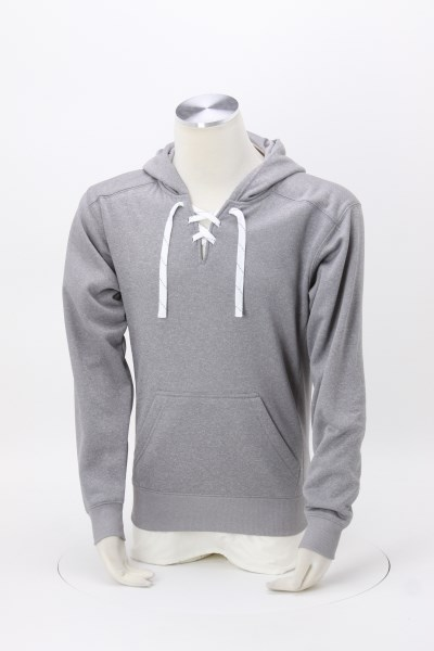 J. America Polyester Sport Lace Hoodie - Embroidered 360 View
