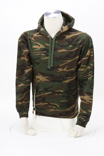 J. America Polyester Tailgate Camo Hoodie - Embroidered 360 View