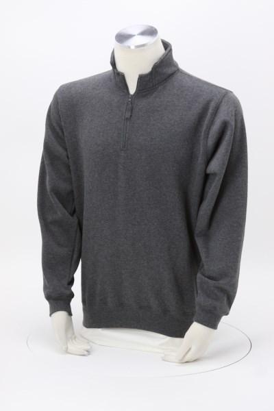 J. America Heavyweight 1/4-Zip Pullover Sweatshirt - Embroidered 360 View