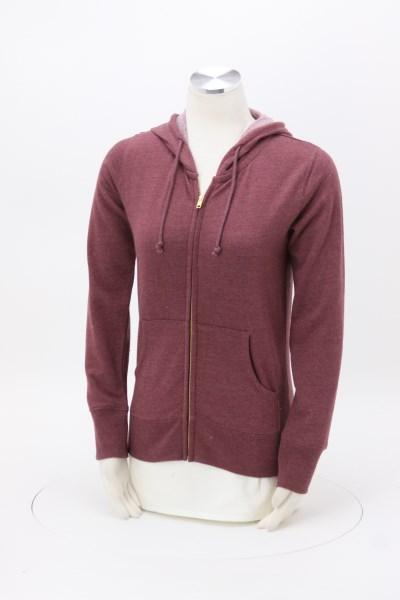 Econscious Heathered Fleece Full-Zip Hoodie - Ladies' - Embroidered 360 View