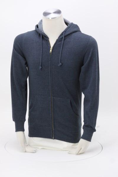 Econscious Heathered Fleece Full-Zip Hoodie - Men's - Embroidered 360 View