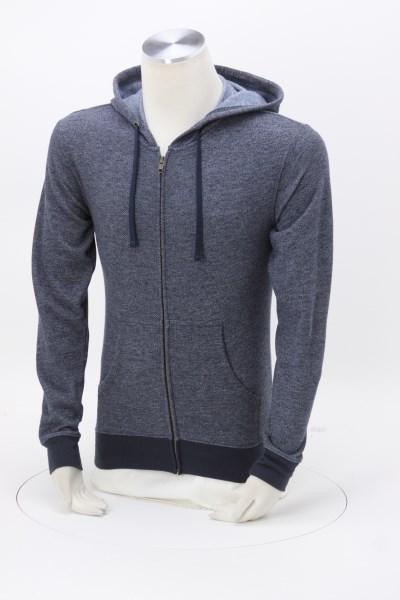 Next Level Denim Fleece Full-Zip Hoodie - Embroidered 360 View