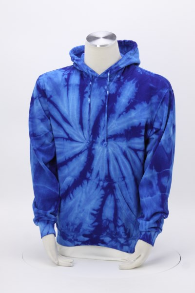 Tie-Dye Hoodie - Embroidered 360 View
