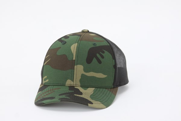 Richardson Trucker Snapback Cap - Army Camo 360 View