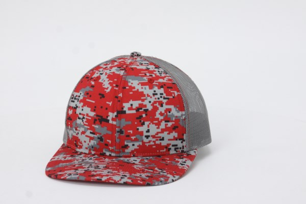 Richardson Trucker Snapback Cap - Digital Camo 360 View
