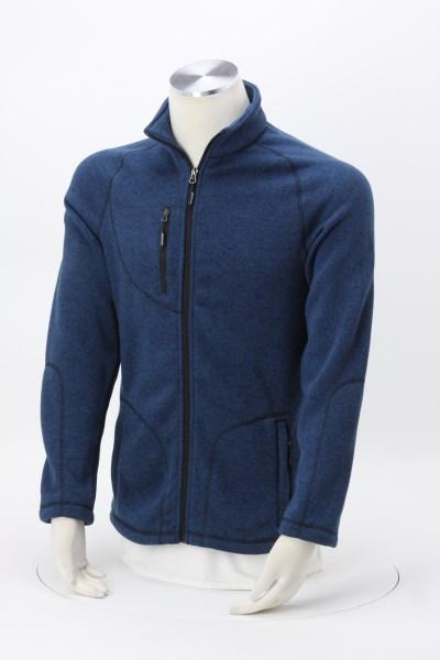Sweater Knit Fleece Jacket - Men's 360 View