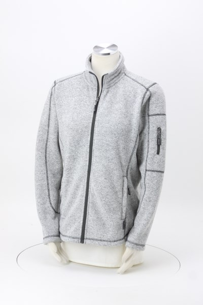 Sweater Knit Fleece Jacket - Ladies' 360 View