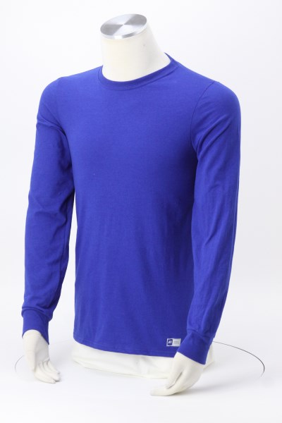 Russell Athletic Essential LS Performance Tee - Men's - Embroidered 360 View
