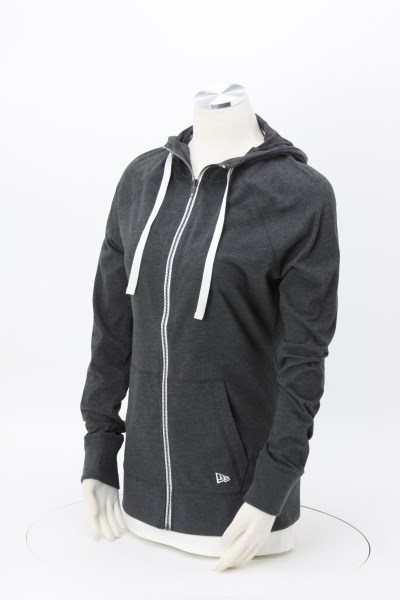 New Era Sueded Cotton Full-Zip Hoodie - Ladies' - Embroidered 360 View