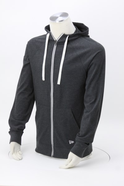 New Era Sueded Cotton Full-Zip Hoodie - Men's - Embroidered 360 View
