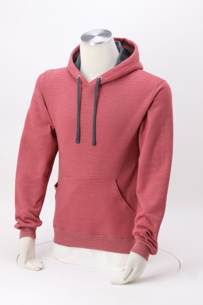 Fruit of the Loom Sofspun Microstripe Hoodie - Embroidered 360 View