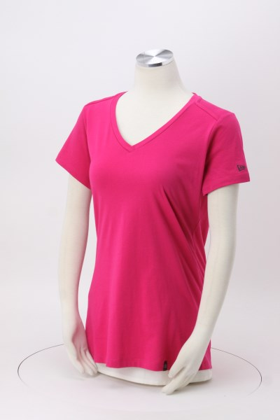 New Era Legacy Blend V-Neck Tee - Ladies' - Embroidered 360 View