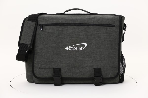 4imprint Heathered Business Attache - Embroidered 360 View
