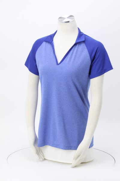 Rival RacerMesh Raglan Heather Polo - Ladies' 360 View