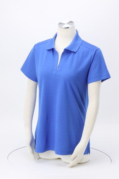 CrownLux Performance Plaited Polo - Ladies' 360 View