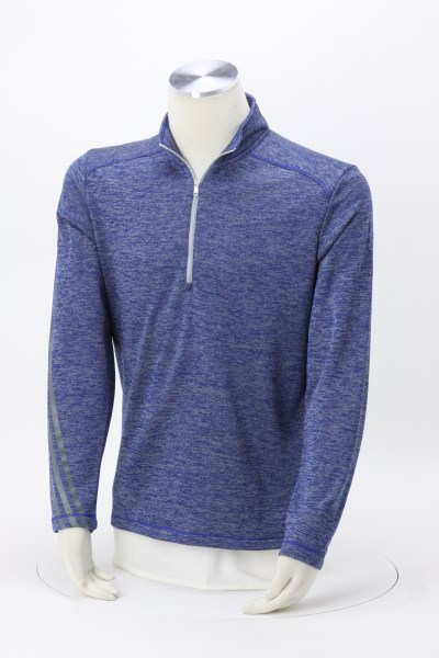 4imprint.com  adidas 3 Stripe Brushed Heather 1 4-Zip Pullover ... 95d9005dc976