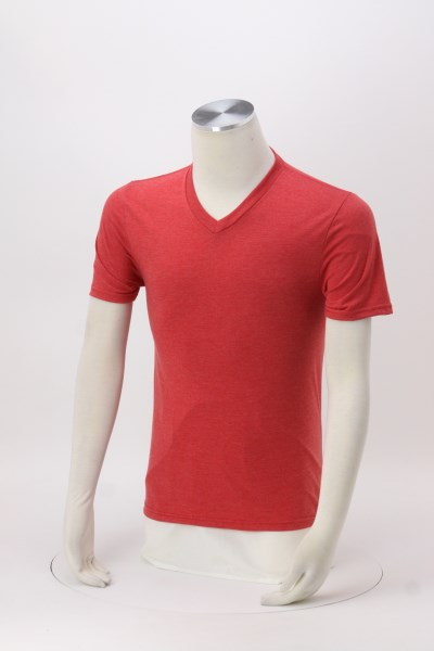 Optimal Tri-Blend V-Neck T-Shirt - Men's - Colors - Screen 360 View
