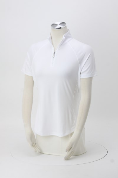 Greg Norman Play Dry Mock Neck 1/4-Zip Polo - Ladies' - 24 hr 360 View