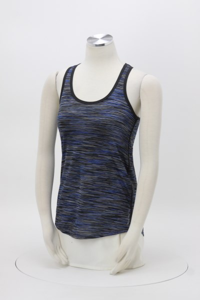 OGIO Endurance Space Dye Racerback Tank - Ladies' - Embroidered 360 View