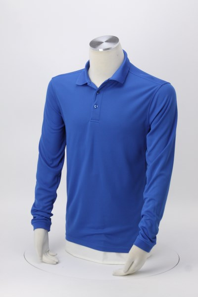 Ice Performance Pique Long Sleeve Polo - Men's 360 View