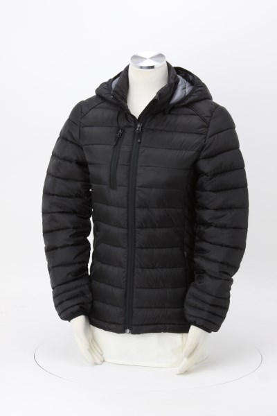 Hudson Quilted Hooded Jacket - Ladies' 360 View