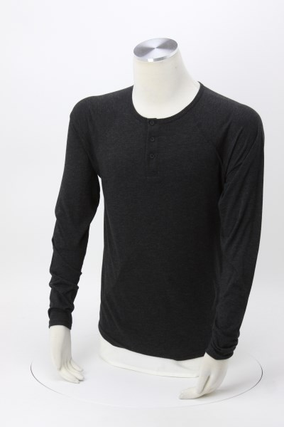 Next Level Tri-Blend Henley - Embroidered 360 View