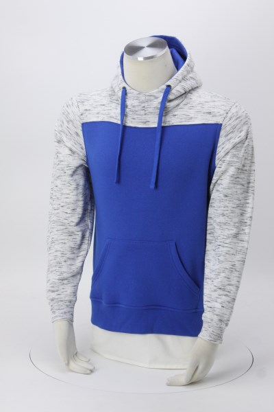 J. America Melange Colorblock  Hoodie - Men's - Embroidered 360 View