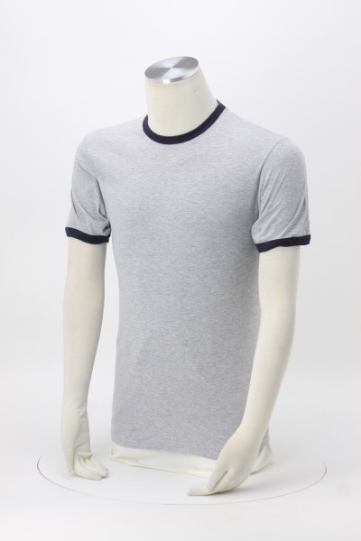 American Apparel Fine Jersey Ringer T-Shirt 360 View