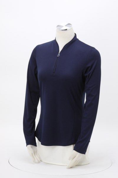 Greg Norman Play Dry Tulip Neck 1/4-Zip Pullover - Ladies' 360 View