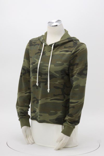 Alternative School Yard Hoodie - Ladies' - Camo - Embroidered 360 View