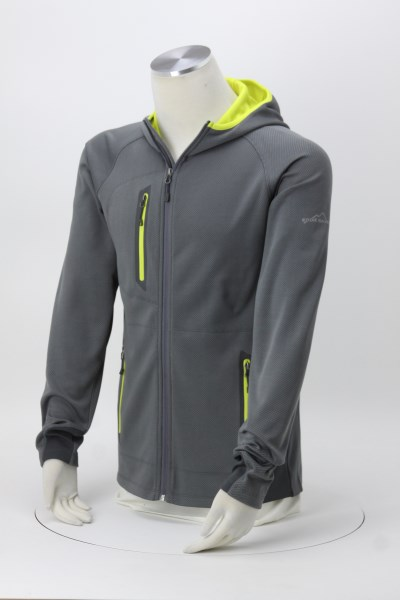 Eddie Bauer Colorblock Hooded Fleece Jacket - Men's 360 View