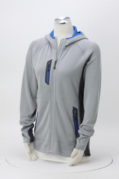 Eddie Bauer Colorblock Hooded Fleece Jacket - Ladies' 360 View