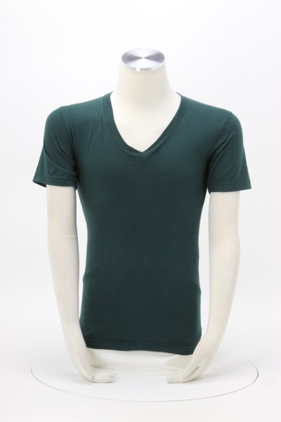 American Apparel Fine Jersey V-Neck T-Shirt - Colors 360 View