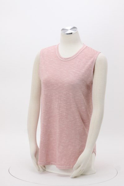 Alternative Washed Slub Sleeveless Tee - Ladies' 360 View