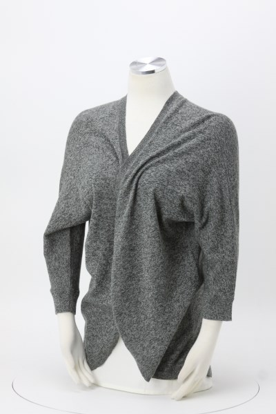 Marled Heather Open Wrap Sweater - Ladies' 360 View