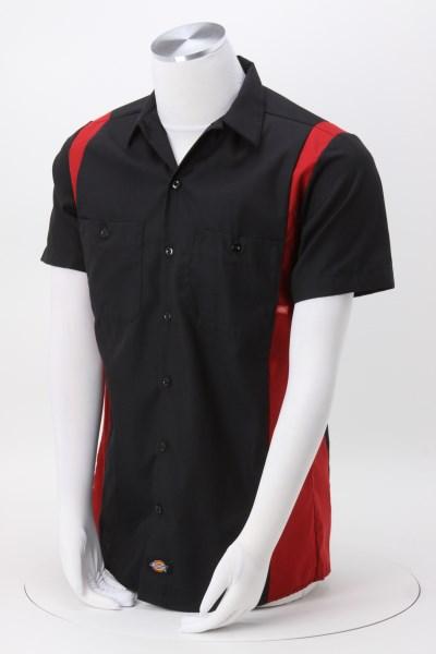 7826dd2aab6 Dickies 4.25 oz Industrial Short Sleeve Colorblock Work Shirt - Men s