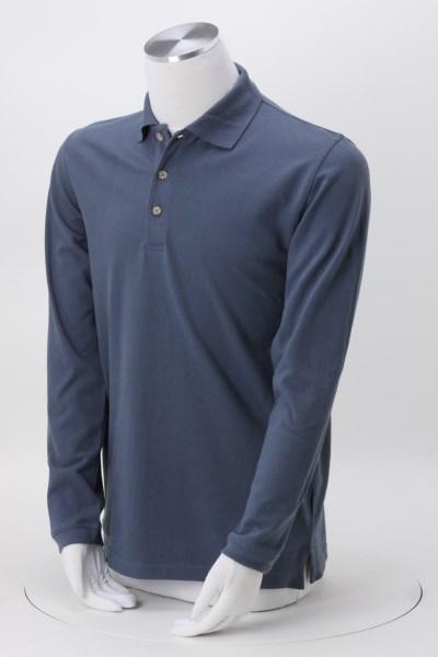 Classic Cotton Pique Long Sleeve Polo - Men's 360 View