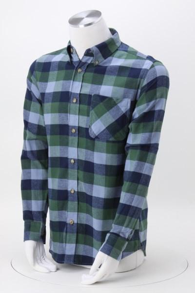 Weatherproof Vintage Brushed Flannel Shirt - Men's - Embroidered 360 View
