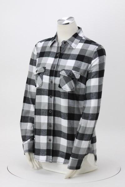 Weatherproof Vintage Brushed Flannel Shirt - Ladies' - Embroidered 360 View