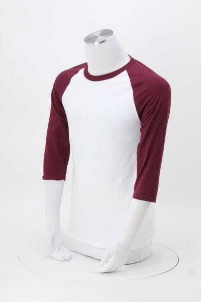 Gildan Heavy Cotton 3/4 Sleeve Raglan T-Shirt - Screen 360 View