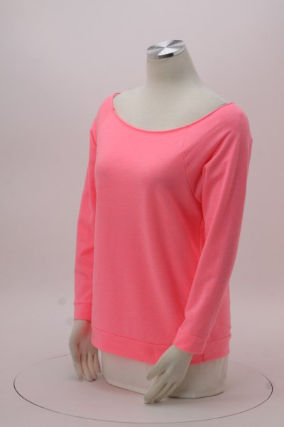 Next Level French Terry Raglan 3/4 Sleeve T-Shirt - Ladies' 360 View
