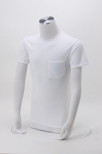 Jerzees Dri-Power 50/50 Pocket T-Shirt - Men's - White 360 View