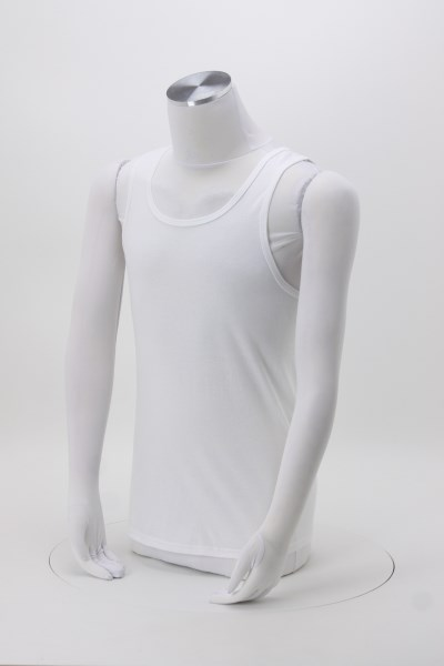Fruit of the Loom HD Tank Top - Men's - White 360 View