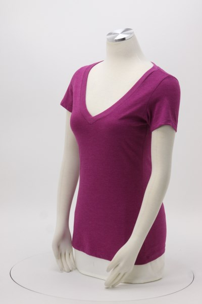 701b32ddcf7e7 4imprint.com  Next Level CVC Blend Deep V-Neck T-Shirt - Ladies ...