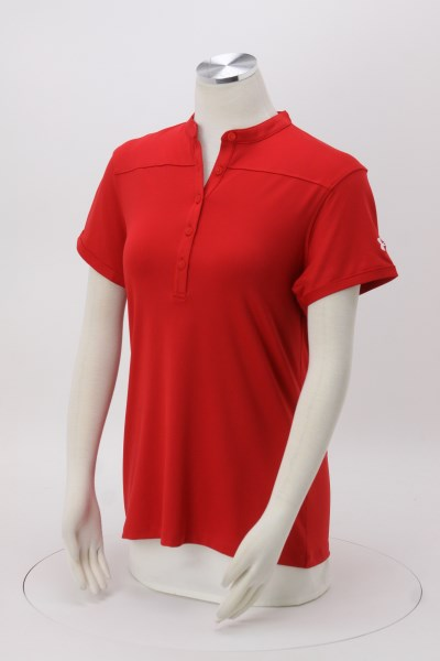 Under Armour Corporate Performance Mock Collar Polo - Ladies' - Emb 360 View